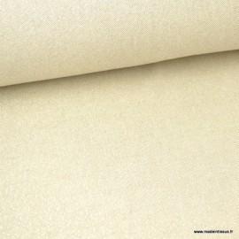 Tissu toile Polycoton Cubex Ecru OR