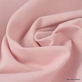 Tissu toile de coton demi natté gratté vintage Rose