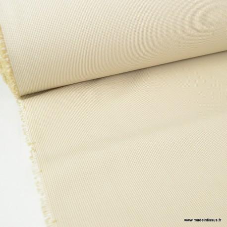 Tissu extérieur polypro fantaisie Blanc & Beige