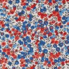 Tissu Liberty Wiltshire Rouge et Bleu