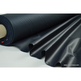 Tissu leger imperméable étanche polyester enduit acrylique marine .
