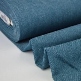 Tissu jean stretch coloris pétrole