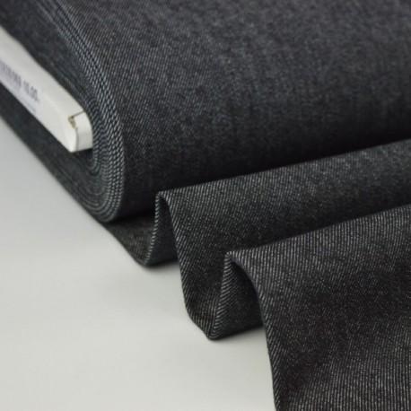 Tissu jean stretch coloris noir
