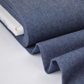 Tissu jean stretch coloris marine