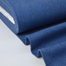 Tissu jean stretch coloris bleu denim