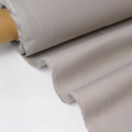 Tissu sergé coton mi-lourd Gris Perle 260gr/m²