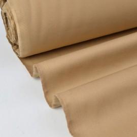 Tissu sergé coton mi-lourd beige  260gr/m²