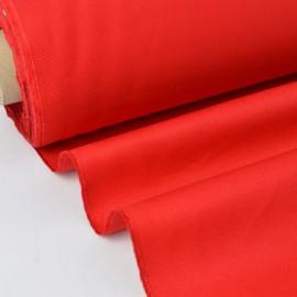Tissu sergé coton mi-lourd rouge  260gr/m²
