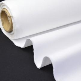 Tissu sergé coton mi-lourd blanc 260gr/m²