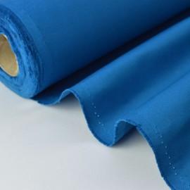 Tissu sergé coton mi-lourd bleu pétrole 260gr/m²
