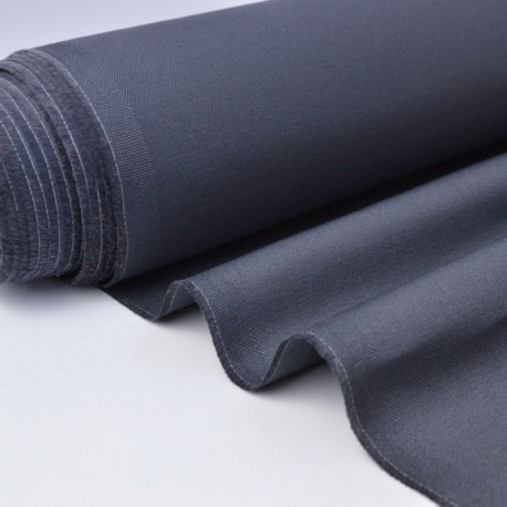 Tissu sergé coton mi-lourd anthracite 260gr/m².