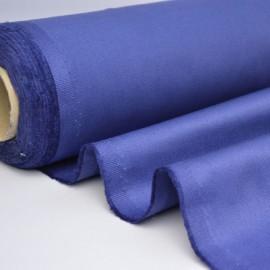 Tissu sergé coton mi-lourd bleu denim 260gr/m²