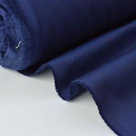 Tissu sergé coton mi-lourd marine 260gr/m²