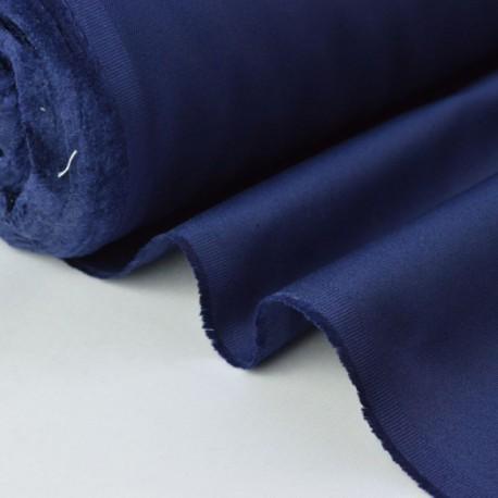 Sergé mi-lourd coton marine 260gr/m² x50cm