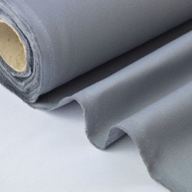 Tissu sergé coton mi-lourd gris 260gr/m²