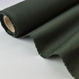 Tissu sergé coton mi-lourd kaki 260gr/m²