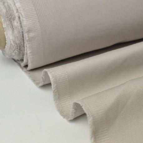 Tissu Sergé lourd coton beige 300gr/m² pour vêtement de travail