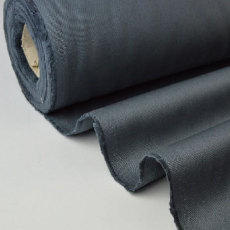 Tissu Sergé lourd coton gris anthracite 300gr/m² pour vêtement de travail