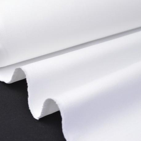 Tissu Sergé lourd coton BLANC  300gr/m² pour vêtement de travail