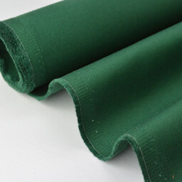 Tissu Sergé lourd coton vert sapin 300gr/m² pour vêtement de travail