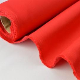 Tissu sergé coton lourd rouge 300gr/m²