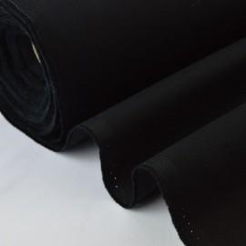 Tissu sergé coton lourd NOIR  300gr/m²