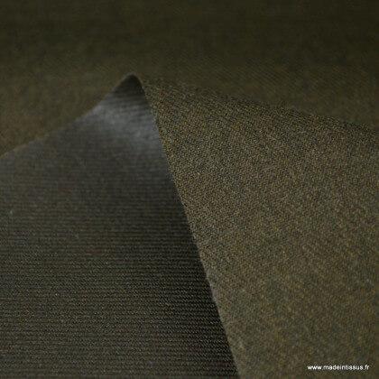 Tissu gabardine polyester viscose enduite étanche bronze