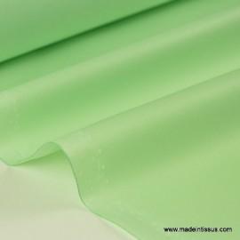Tissu imperméable étanche polyester enduit acrylique vert clair