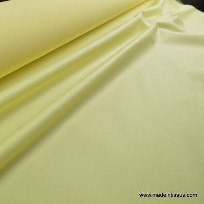 Tissu imperméable étanche polyester enduit acrylique jaune