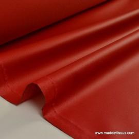 Tissu imperméable étanche polyester enduit acrylique rouge