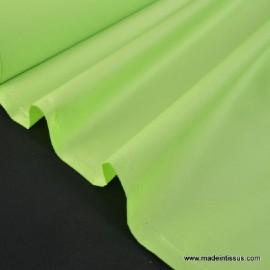 Tissu imperméable étanche polyester enduit acrylique anis .