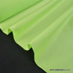 Tissu imperméable étanche polyester enduit acrylique anis