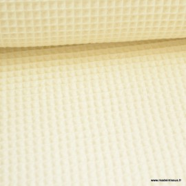 Tissu nid d'abeille Ecru - Oeko tex