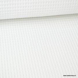 Tissu nid d'abeille Blanc - Oeko tex