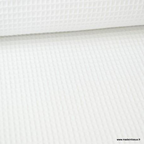 Tiss nid d'abeille Blanc - Oeko tex