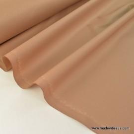 Tissu imperméable étanche polyester enduit acrylique Beige .