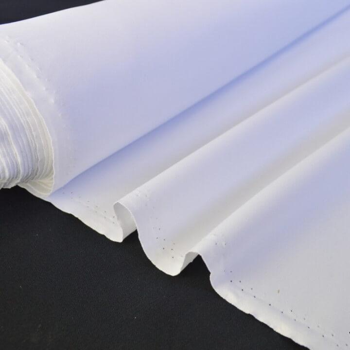tissu Sergine polyester pour robe de mariée coloris blanc