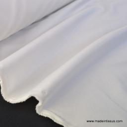 Tissu Sergine polyester pour robe de mariée coloris ivoire