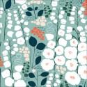 Tissu Bio coton CLOUD9 - Collection Stockbridge Vert