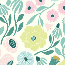 Tissu Bio coton CLOUD9 ethereal Vignes - Collection Ethereal Jungle