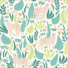 Tissu Bio coton CLOUD9 Jungle Cats - Collection Ethereal Jungle