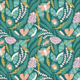 Tissu Bio coton CLOUD9 Creatures- Collection Ethereal Jungle