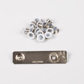 Oeillets avec rondelles 4mm + jeu de pose - Blanc - Bohin