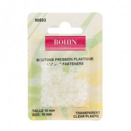 Bouton Pressions à coudre 10mm transparent - Bohin