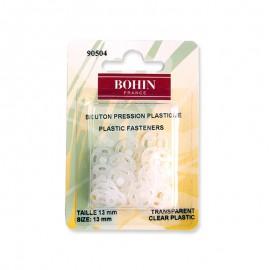 Bouton Pressions à coudre 13mm transparent - Bohin
