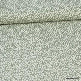 Tissu coton Feuilles Vert