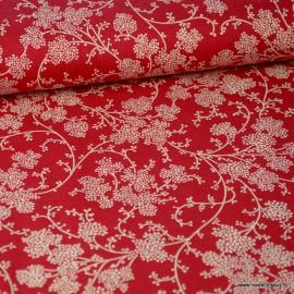 Tissu coton Vignes Rouge et Blanc