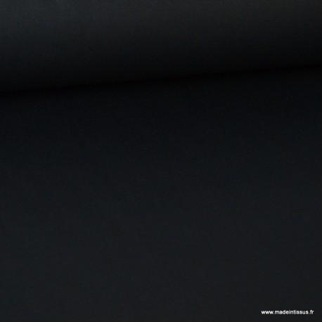 Tissu sergé coton extra lourd Noir 350gr/m²