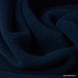 Tissu Micro polaire Bleu marine foncé - oeko tex