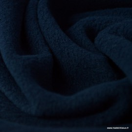 Tissu Micro polaire Bleu marine foncé